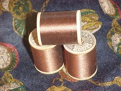 Vintage J. & P. Coats Pure Silk Sewing Thread 350, Beautiful Autumn Brown, Steampunk Project Ready. $1.50, via Etsy.