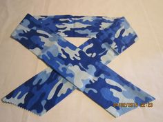 """Extra Wide 3"""" Reusable Non-Toxic Cool Wrap / Neck Cooler  - Camouflage - Blue Camo by ShawnasSpecialties on Etsy"""
