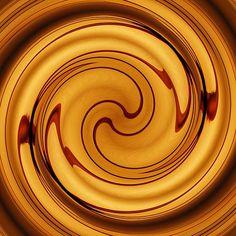 Amber Square Swirl 2    by S Loft