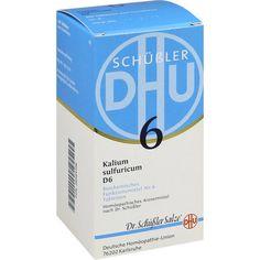 BIOCHEMIE DHU 6 Kalium sulfur.D 6 Tabletten:   Packungsinhalt: 420 St Tabletten PZN: 06584108 Hersteller: DHU-Arzneimittel GmbH & Co. KG…