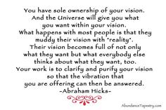 Clear your vision - Abraham & Jerry & Esther Hicks