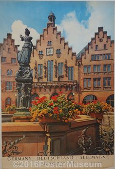 Germany travel poster. Circa 1935. Original. Printed in Germany.                                                                                                                                                                                 More