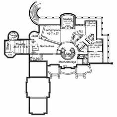 Gem of the Finest Grade - floor plan - Basement Luxury House Plans, Best House Plans, Dream House Plans, Custom Home Designs, Custom Homes, Exterior Wall Materials, Built In Dresser, I Love House, Mountain House Plans