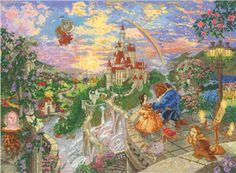 Thomas kinkade disney cross stitch.... I actually have this kit. It. Is. Huge!!!