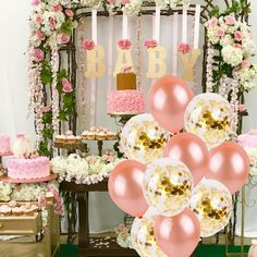 70 breathtakingly beautiful baby shower centerpieces for girls 25 Baby Shower Niño, Gold Baby Showers, Girl Shower, Baby Shower Themes, Shower Ideas, Birthday Party Decorations, Wedding Decorations, Birthday Parties, Party Themes