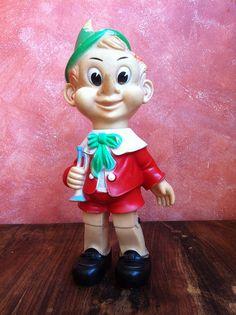 Vintage squeaky toys.  Pinocchio 1962, via Flickr.