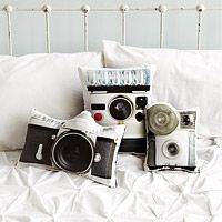 Vintage Camera Pillows and other tech gadgets for guys. http://www.uncommongoods.com/fun/by-interest/geek-gifts