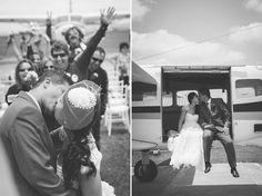 Skydive Wedding with a Ring Exchange on the Plane and an Actual Parachute Jump