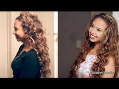 Rizos (en forma de espiral) Sin Calor Curly Hair Overnight, Messy Bun Hairstyles, Curls, Curly Hair Styles, Hair Beauty, Make Up, Youtube, Outfits, Shape