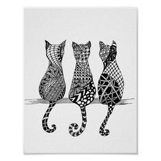 The Cats Meow Drawing adorable bohemian kitties to color and try out your new new color markers! Purrrfect addition to your coloring pages! Tap the link Now - The Best Cat Related Products - Worldwide Shipping! Mandala Design, Mandala Art, Mandalas Painting, Mandala Drawing, Painting & Drawing, Cat Drawing, Fine Art Amerika, Frida Art, Zentangle Drawings