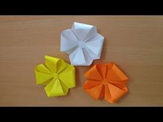 折り紙 花 立体 折り方(nicenov1) Origami flower 3D - YouTube
