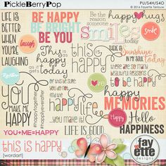 This Is Happy WordArt By Fayette Designs