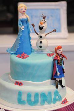 Torta de Frozen de 2 pisos