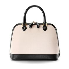Aspinal of London Hepburn Bag In Monochrome Saffiano (14,765 HNL) ❤ liked on Polyvore featuring bags, handbags, tote bags, monochrome mix, totes, vintage style purses, zipper bag, structured handbags, pink purse and zip bag