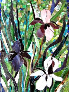 Irises        #mosaic #flowers #art