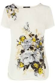Image result for floral t shirts for women