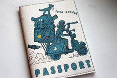 Passport Cover - Passport Case - Passport holder- Leather base wallet - Gift for traveller - Travel Wallet