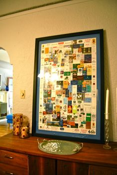 great idea for ticket stubs, pamphlets, and other papers associated with past travels.