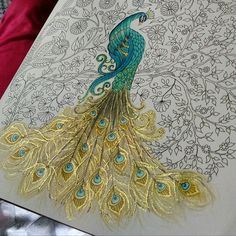 Secret garden coloring book, Gardens coloring book, Enchanted forest coloring, J… – Keep up with the times. Secret Garden Coloring Book, Garden Wallpaper, Joanna Basford, Johanna Basford Secret Garden, Johanna Basford Coloring Book, Peacock Art, Watercolor Peacock, Peacock Painting, Fabric Painting