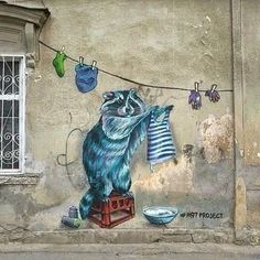 """StreetArt How Fit Is Your Kid I read an article the other day entitled """"How Fit is Your Kid? Grafitti Street, Murals Street Art, 3d Street Art, Amazing Street Art, Mural Art, Wall Art, Urbane Kunst, Grafiti, Building Art"""