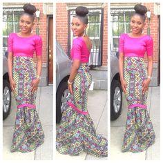 Ankara dress by princess_osahon  Bottom = perfection  Top = sequence white