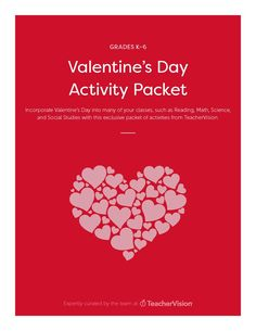 Check out our member-exclusive packet with educational Valentine's Day activities for your classroom. Incorporate this lovable holiday into classes such as Reading, Math, Science, and Social Studies.
