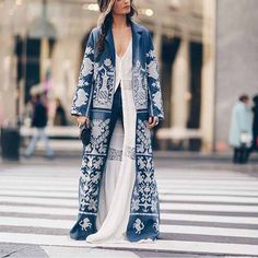 Coats For Women, Jackets For Women, T Shirts For Women, Long Overcoat, Traditional Fashion, Street Style Summer, Mantel, Long Sleeve, Sleeves