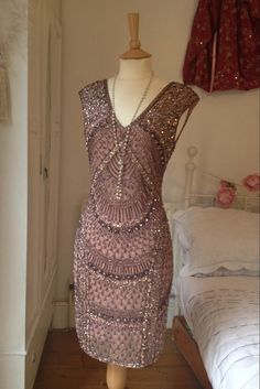 Embroidered 1920's Style Dress by Talulahblueburlesque on Etsy