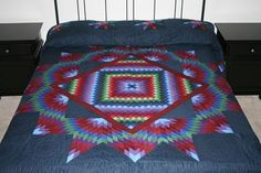 King Sunshine Star Deluxe Solid Colors Amish Quilt