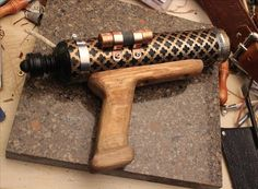 One of the hardest, most intimidating parts of making your own Steampunk guns from scratch is the wooden stock of the gun.
