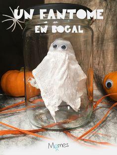 Booouuuuh ! Un mignon petit fantôme se promène dans la maison. Vite, il vous faut un bocal pour l'attraper et le montrer aux copains ! Notre bricolage du jour est une déco d'Halloween digne des meilleurs chasseurs de fantômes ! Who you gonna call ? Ghostbusters !