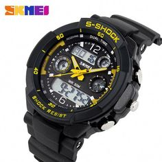 Men's Watches Enthusiastic Synoke Men Sports Watches Waterproof G Relogio Masculino Digital Watch Chronograph Shock Double Time Wristwatches For Gift Mens To Reduce Body Weight And Prolong Life