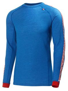 Helly Hansen Mens Warm Ice Baselayer Crew Top: Cobalt Blue