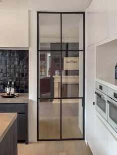 Aluminum Fabrication, Hallway Flooring, House Extension Design, Glass And Aluminium, Kitchen Doors, Internal Doors, Home Renovation, Glass Door, My Dream Home
