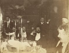 Sargent at an artist's party, (He is in the middle )