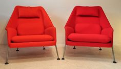 ernest race heron chairs #red