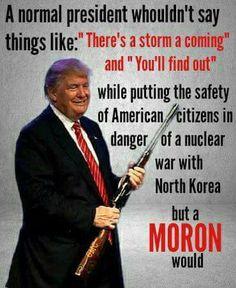 Trump is a moron #trump #notmypresident #republican #republicans