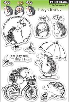 Hedgie Friends - Clear Stamp