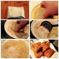 Risolles vullen vouwen en bakken