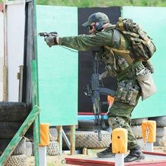 Russian Spetsnaz SSO during a shooting competition.