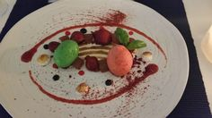 @finedining #strawberries #Vinsanto #Meringue #Basil