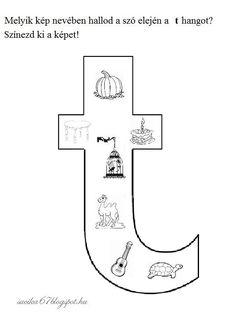Kisbetűkben képek a hangfelismerés gyakorlásához – Játékos tanulás és kreativitás Letter Activities, Alphabet, Symbols, Letters, Infant Games, Creative, Alpha Bet, Icons, Fonts