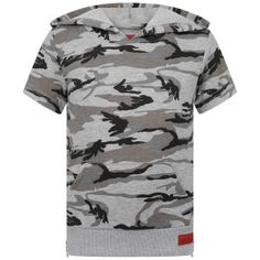 7c6e0155b029 Haus Of JR Grey Camo Short Sleeve Jordan Hoodie Camo Shorts