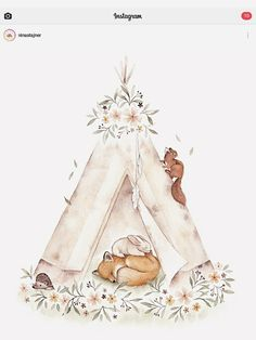Woodland Animals Theme, Slide Images, Forest Party, Baby Bunnies, Nursery Neutral, Nursery Art, Cute Drawings, Illustrations, Cute Art