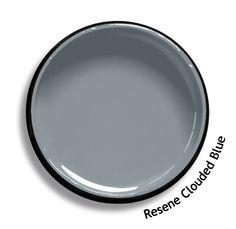 Resene Powder Blue is an antiqued steel blue. From the Resene Karen Walker Paint. Exterior Paint Colors, Paint Colors For Home, House Colors, Paint Colours, Wall Colors, Colour Pallette, Colour Schemes, Interior Paint, Interior Design Living Room