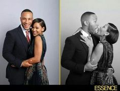 Exclusive: 'Black Women in Hollywood' Photo Booth: Meagan Good and DeVon Franklin Black Celebrity Couples, Black Love Couples, Cute Couples, Power Couples, Love And Marriage, Beautiful Young Lady, Black Is Beautiful, Beautiful Couple, Deserts