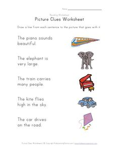 picture clues worksheet kids pinterest riddle pictures pictures and reading. Black Bedroom Furniture Sets. Home Design Ideas