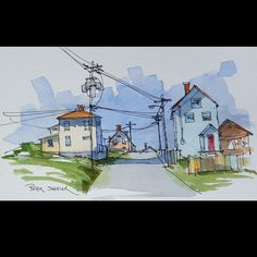 https://flic.kr/p/HmNMpm   Bonavista Newfoundland   A new YouTube Video.  Before I head off on a vacation I like to do an few practice sketches of  local scenes. I use Google Street View to find reference material. It's so much fun to find the spot I painted from home.  Link to my YouTube Channel is in my bio or Cut and Paste: m.youtube.com/c/petersheelerart