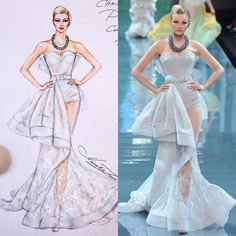 Christian Dior Couture Fall 2008 gown 💎 (Copic Marker, artist pens, pens, etc on - - Trendy Fashion, Fashion Art, Boho Fashion, Fashion Models, Fashion Show, Dior Fashion, Fashion Illustration Sketches, Illustration Mode, Fashion Sketches