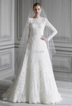 Long Wedding Dresses 2014 Muslim Long Sleeves A Line Lace Cathedral Tain Wedding Dresses Custom Made Bridal Gown Couture Wedding Dresses From Evermore, $198.96| Dhgate.Com
